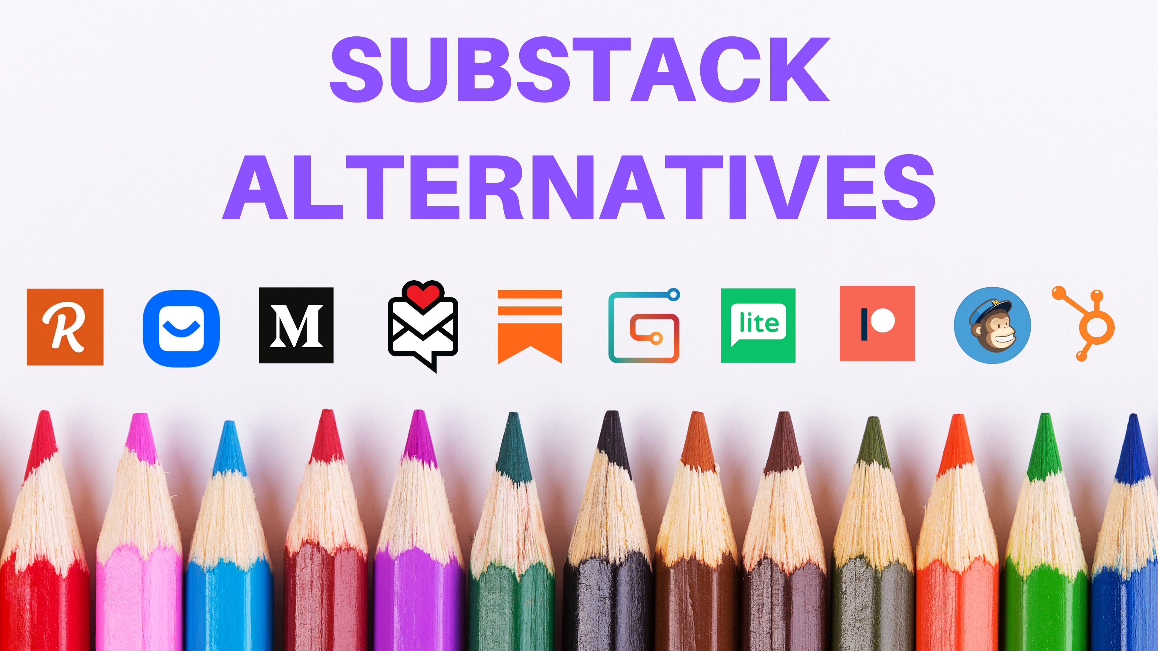 substack alternatives, substack competitors, substack vs revue, tinyletter vs substack, ghost vs substack, casey botticello
