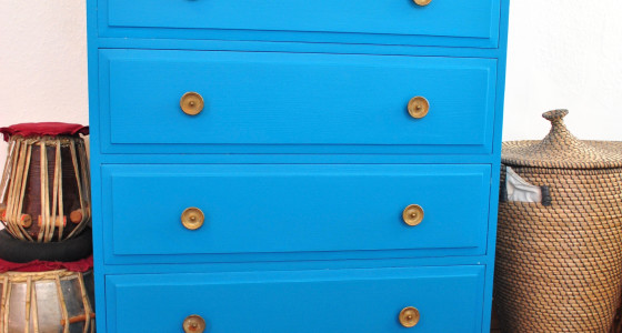 Turquoise drawers
