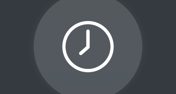 graphic of a clock on a grey background