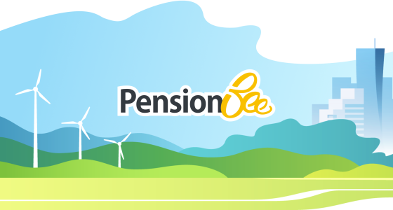 PensionBee logo and world in a heart