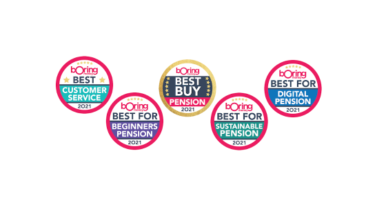 five boring money awards logos