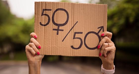 50/50 equality sign