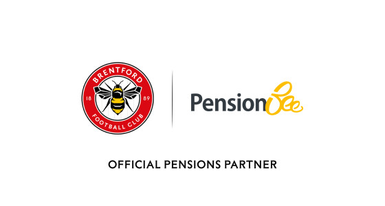 Brentford Football Club and PensionBee logos side by side