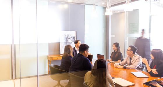 Diverse team in a boardroom