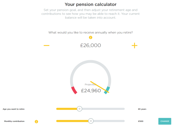 PensionBee calculator