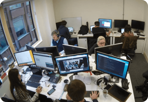 Employees working in the office
