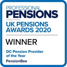 DC Pension Provider of the Year badge from Professional Pensions UK Pensions Awards