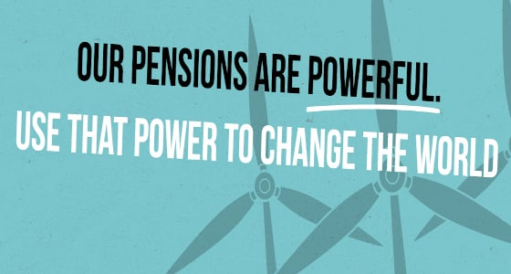 Make my money matter campaign image with pensions are powerful written in black
