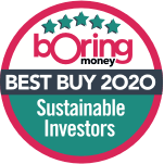 Boring Money's Best Buy 2020 for 'Sustainable Investors'