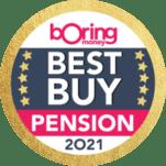 Boring Money's Best Buy 2021 for 'Pension'