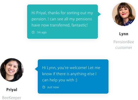 pensionbee live chat