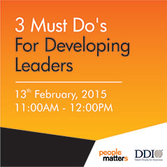 3 Must Do's For Developing Leaders