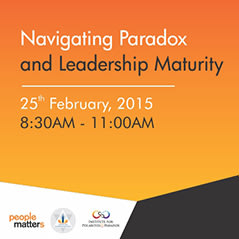 """Roundtable discussion on """"Navigating Paradox and Leadership Maturity"""""""