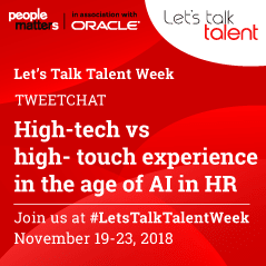 High-tech vs high-touch experience in the age of AI in HR