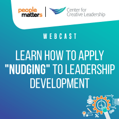 "Learn how to apply ""nudging"" to leadership development"