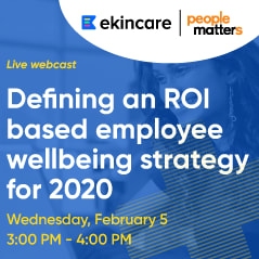 Defining an ROI based employee wellbeing strategy for 2020