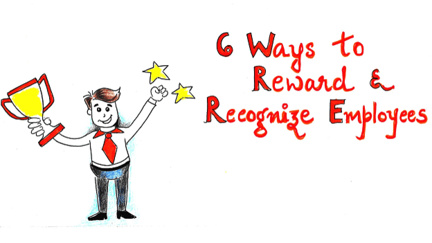 Sketchnote: Six ways you can reward and recognize employees