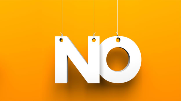 When and how to say 'NO' without burning the bridges