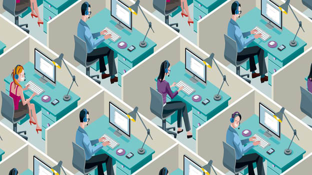 Design an office space with better acoustics for employee productivity