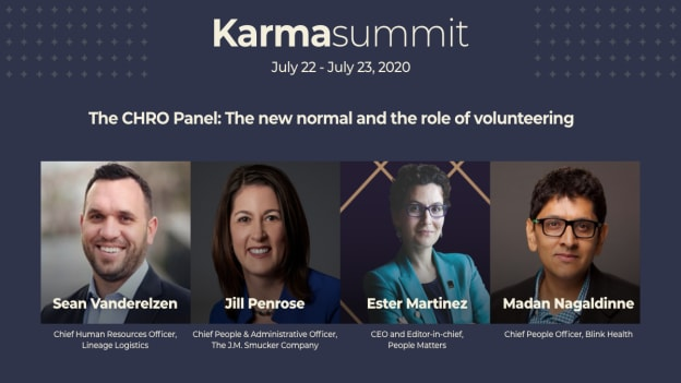 Goodera Karma Summit CHRO panel on the new normal & the role of volunteering