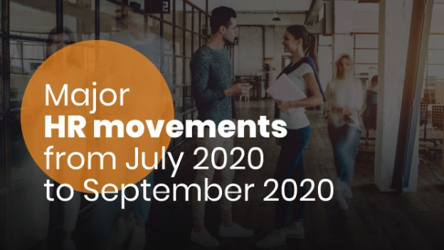 Major HR movements from July 2020 to September 2020