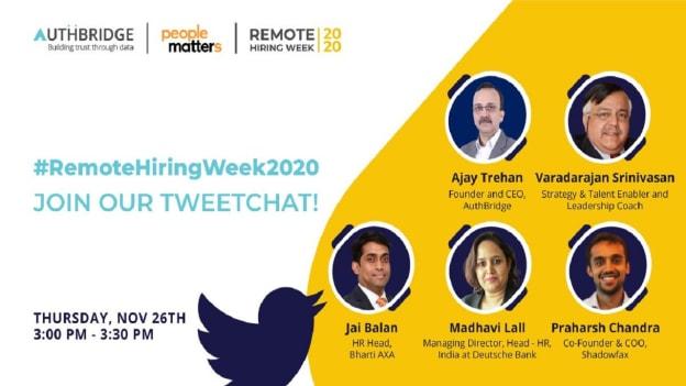 Tweetchat verdict: Remote Hiring Week 2020