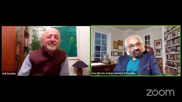 My message to all the young people is to really work on improving self: Sam Pitroda, Father of India's Telecom Revolution