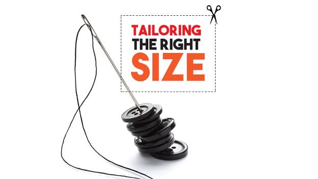 Tailoring the right size