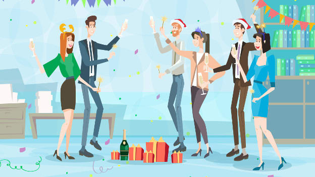 How to get work done when employees are in festive mood
