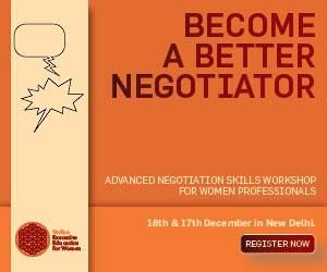 Vedica Executive Education for Women | BECOME A BETTER NEGOTIATOR | 16th & 17th December, New Delhi | [ Register Now ]