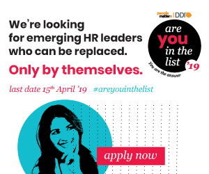 We're looking for emerging HR leaders who can be replaced