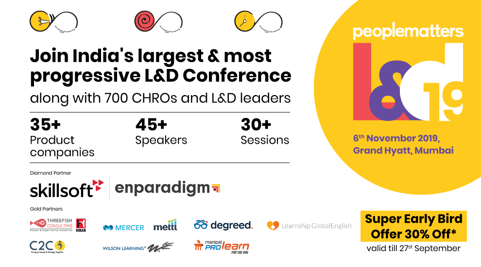Join India's largest and most progressive L&D Conference, along with 700 CHROs and L&D leaders | Super Ealry Bird Offer 30% Off*