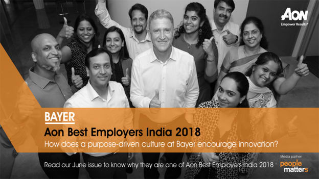 How does Bayer India enable a purpose-driven culture