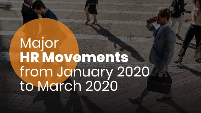 Major HR movements from January 2020 to March 2020