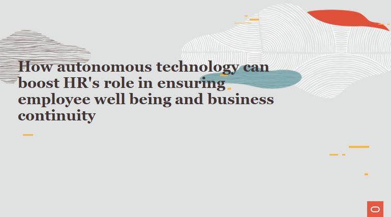 How autonomous technology can boost HR's role