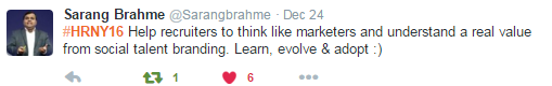 Sarang Brahme's New Year Resolution
