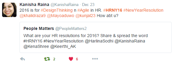 Kanisha Raina's new year resolution 2016