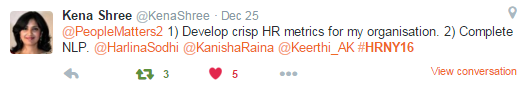 Kena Shree's New Year resolution 2016