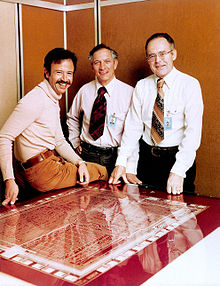 Andy Grove with his team