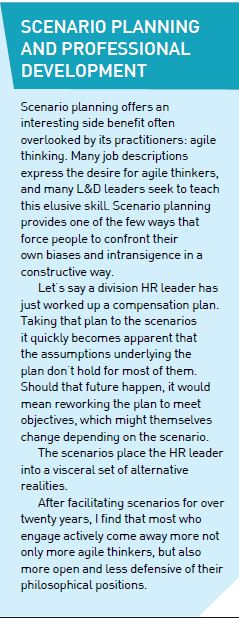 Scenario Planning and Professional Development
