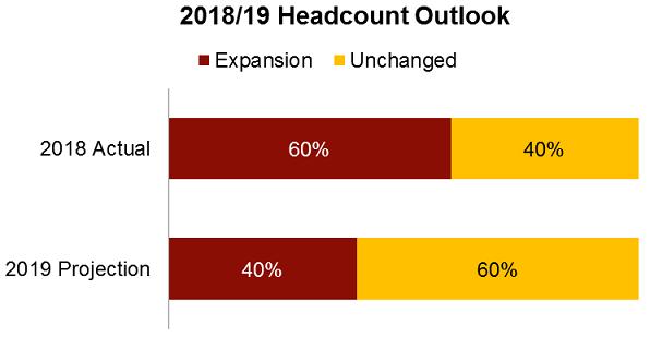 2018-2019 headcount outlook