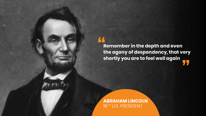 Abraham Lincoln on World Mental Health Day