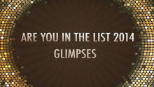 Glimpses: Are You In The List 2014