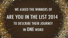 'Are You In The List' in one word by Winners of 2014