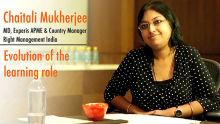 Chaitali Mukherjee : Evolution of the learning role