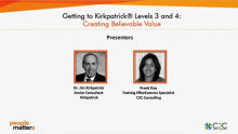 The new world Kirkpatrick® Model - Getting to Levels 3 & 4