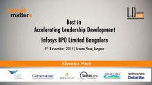 Best in Accelerating Leadership Development - Infosys BPO