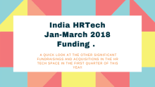 A look at the Indian HR Tech funding and acquisitions: Jan-March 2018