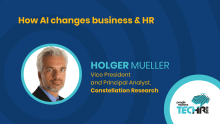 How AI changes business & HR | Holger Mueller at People Matters TechHR 2019