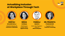 Actualizing inclusion at workplace through tech @ #TechHRIn 2019